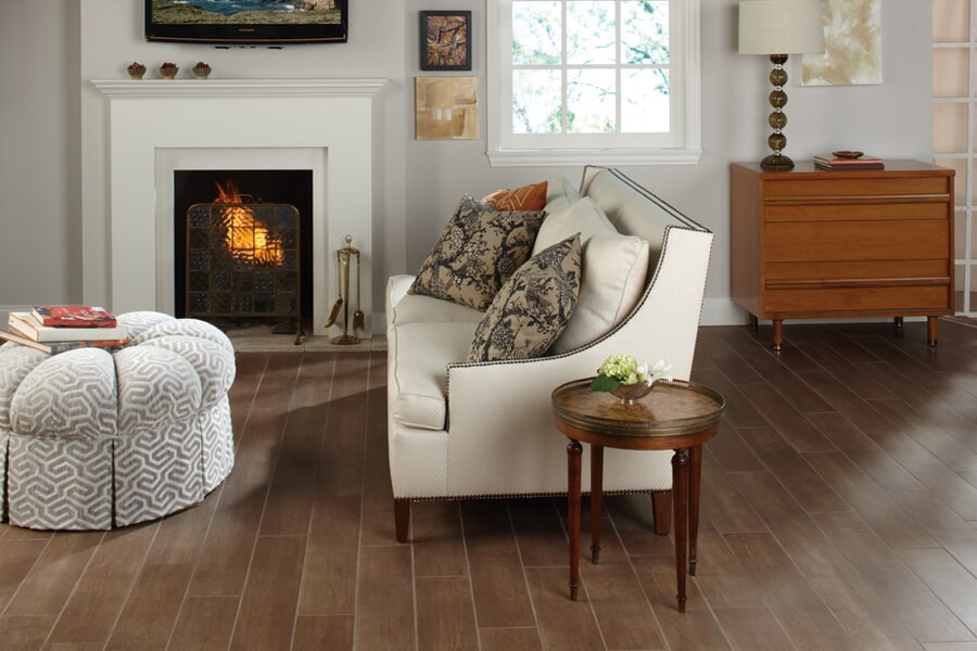 Wood look tile flooring in Faribault, MN from Behr's USA Flooring