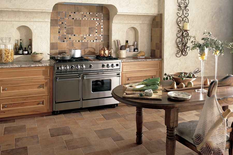 Custom kitchen tile in Granite Bay CA from Designing Dreams Flooring & Remodeling