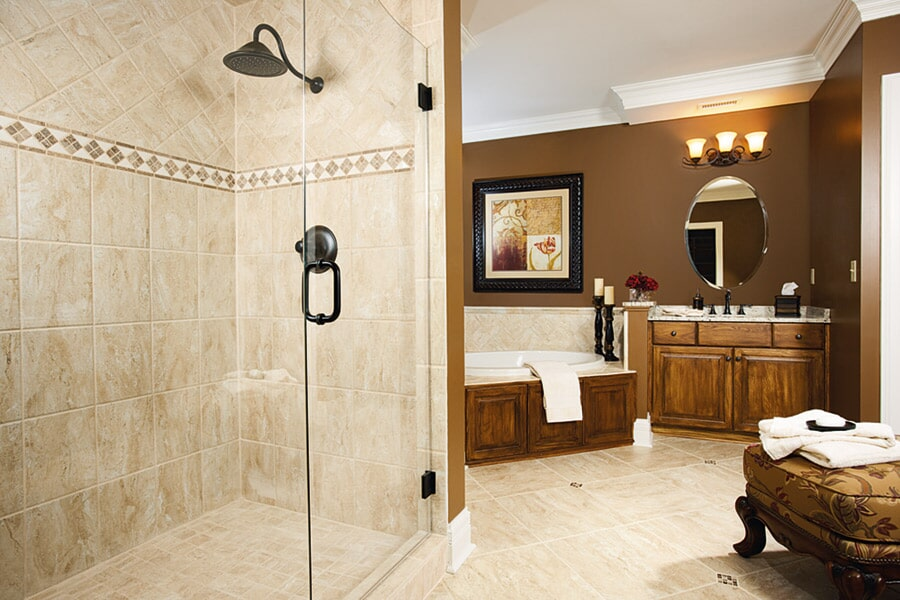 Custom Stone bathroom in Norco CA from Compare Carpets & Hardfloors