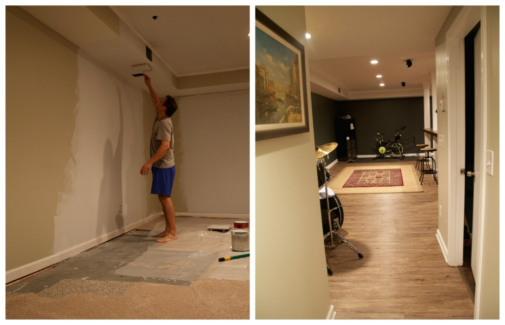 Man Cave Makeover Before and After