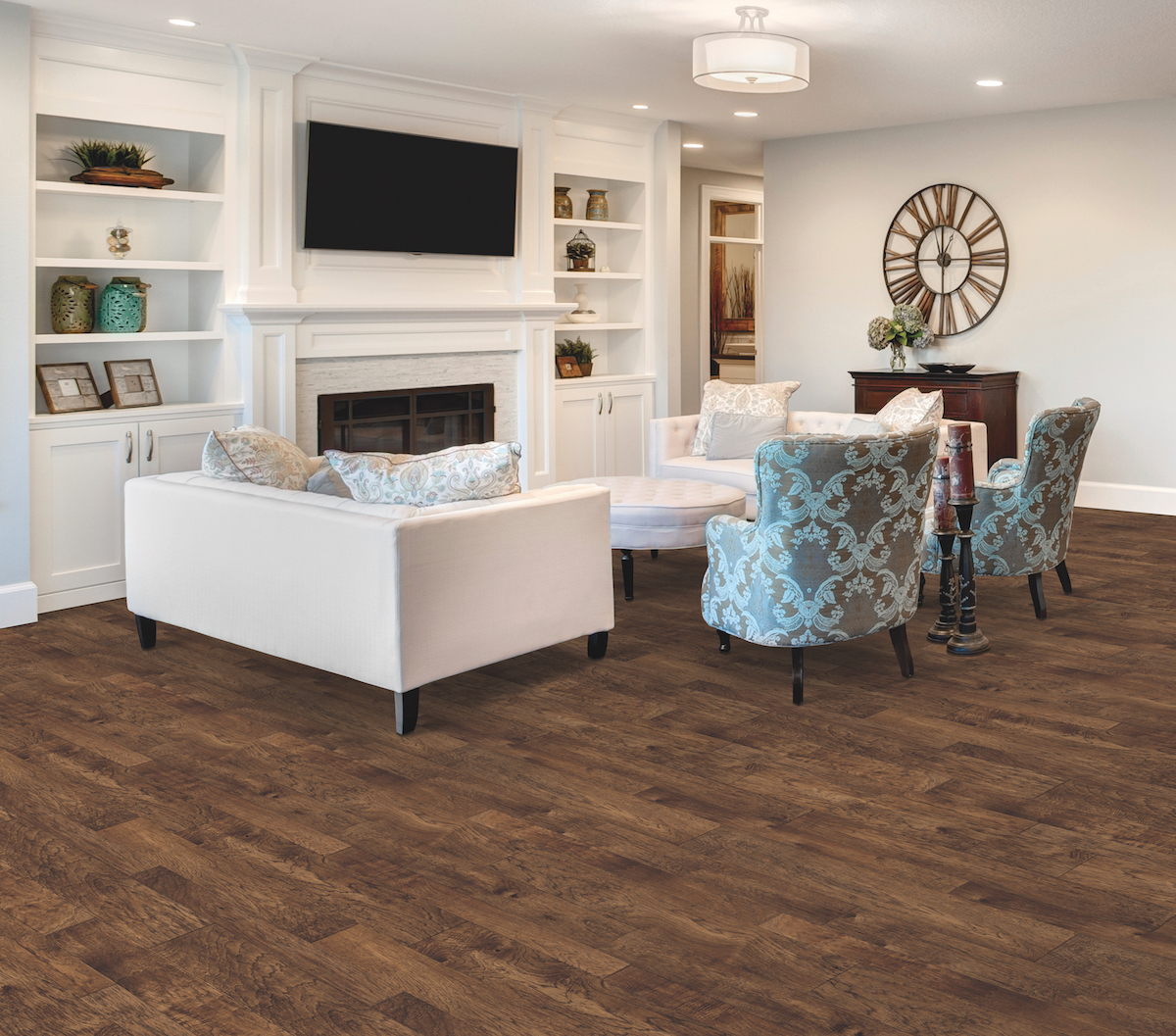 Flooring in the living room