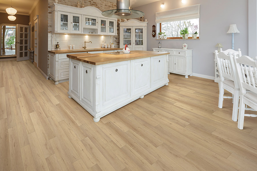 Wood look waterproof flooring in San Mateo, CA from Total Hardwood Flooring Services