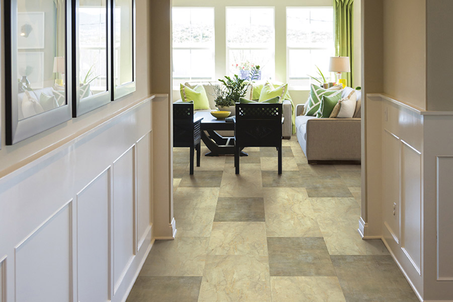 Wood look waterproof flooring in Lawton MI from West Michigan Carpet & Tile