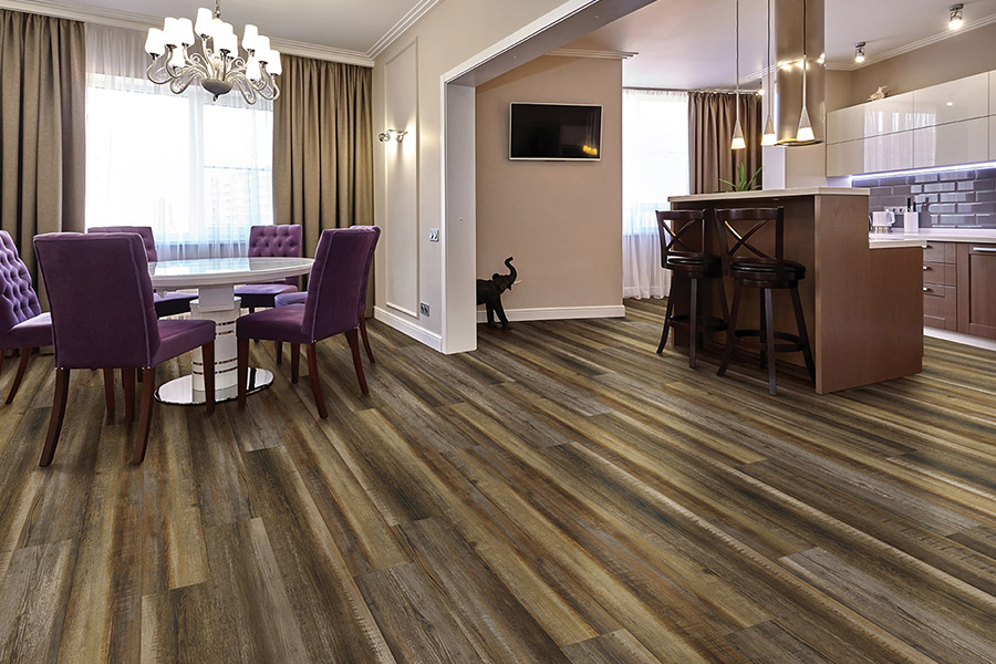Wood look waterproof flooring in Yorba Linda, CA from Pat's Carpet