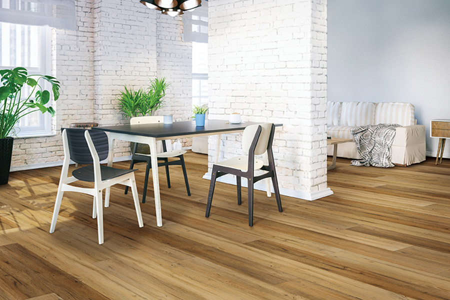 Wood look waterproof flooring in Larchmont, NY from Allen Carpet