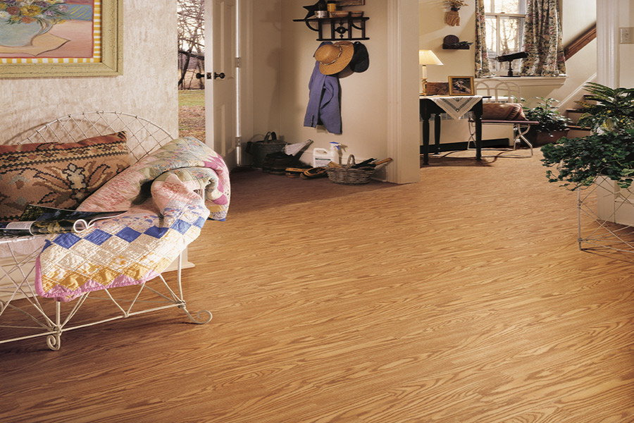 Wood look vinyl sheet flooring in Bismarck, ND from Delair's Carpet & Flooring