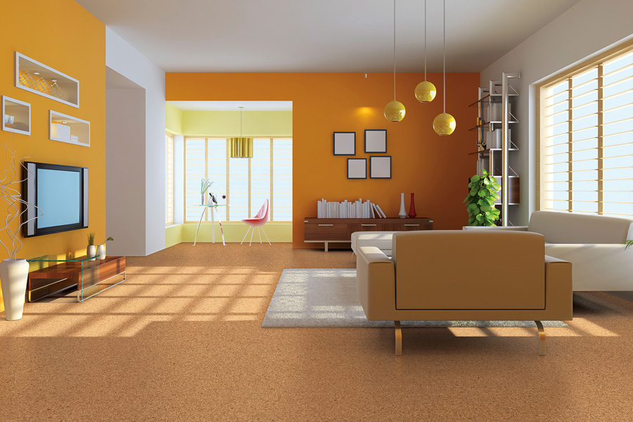 Eco-friendly flooring options such as cork in Rumson, NJ from Carpets with a Twist
