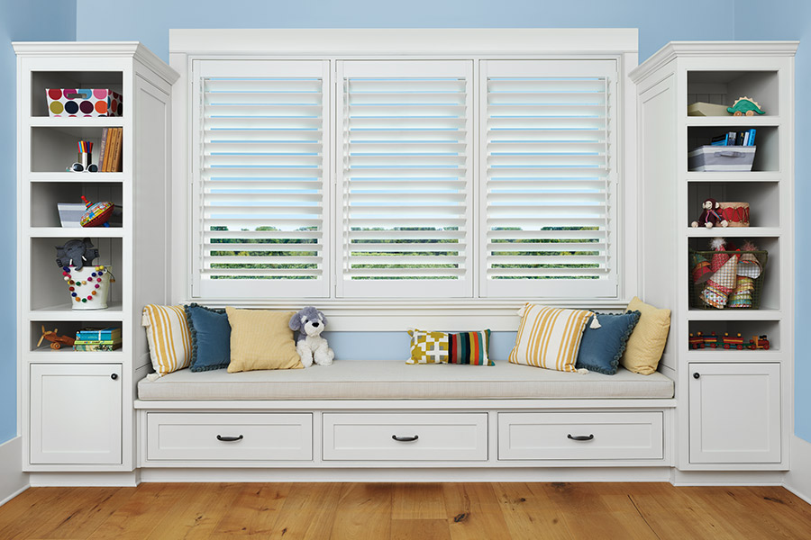 Window seat window treatments in Palmyra PA from Allwein Carpet One