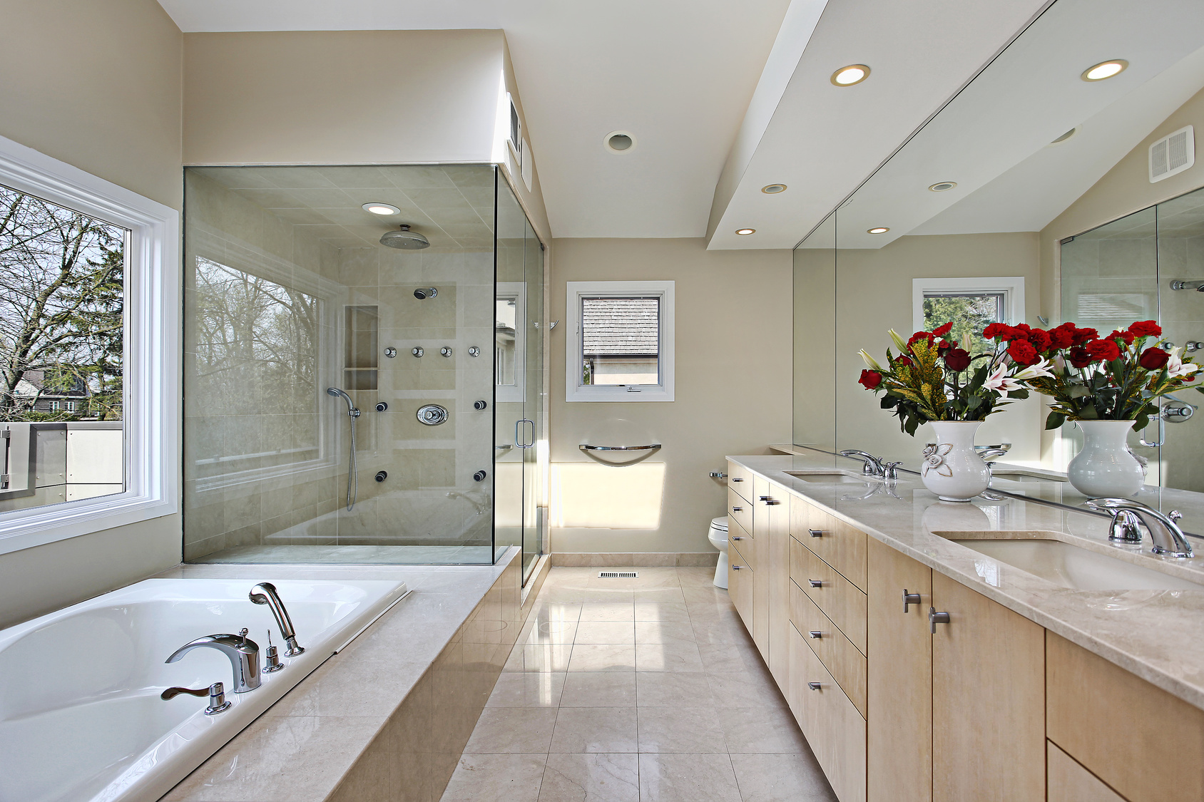 Bathroom tile flooring in Seaside, FL from Coastal Carpet and Tile Carpet One Floor & Home
