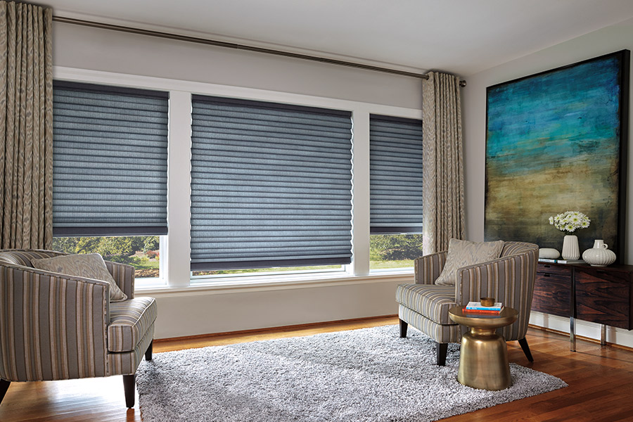 Accordion blinds in Middlebury, VT from Abatiello Design Center