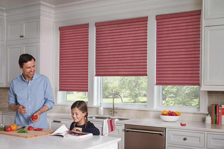Family friendly window treatments in Peoria, IL from Vonderheide Floor Covering