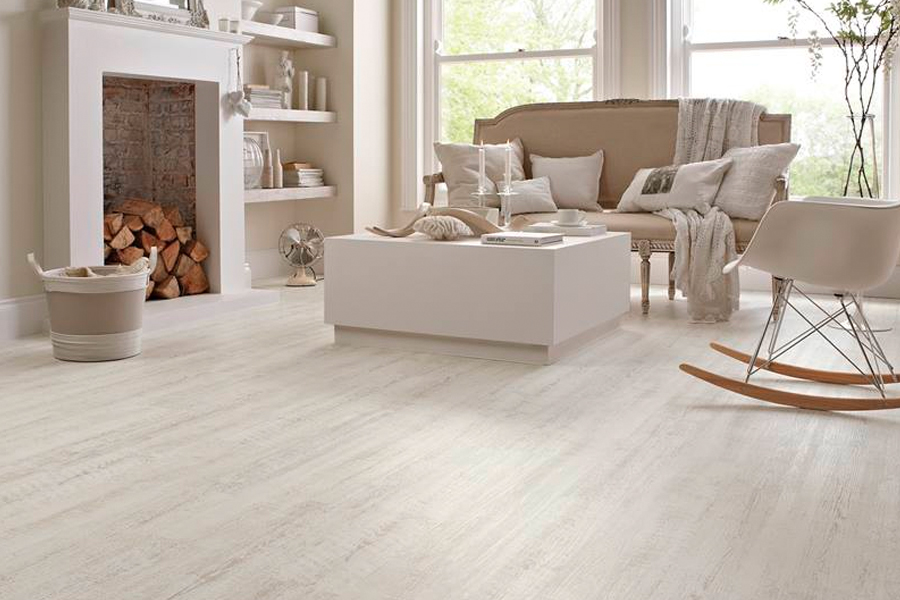 Wood look vinyl sheet flooring in New Prague, MN from Bisek Interiors