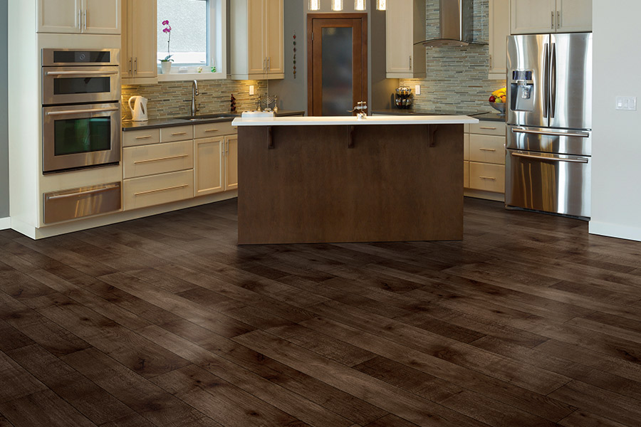 High end kitchens with luxury vinyl plank (LVP) flooring from Select Floors
