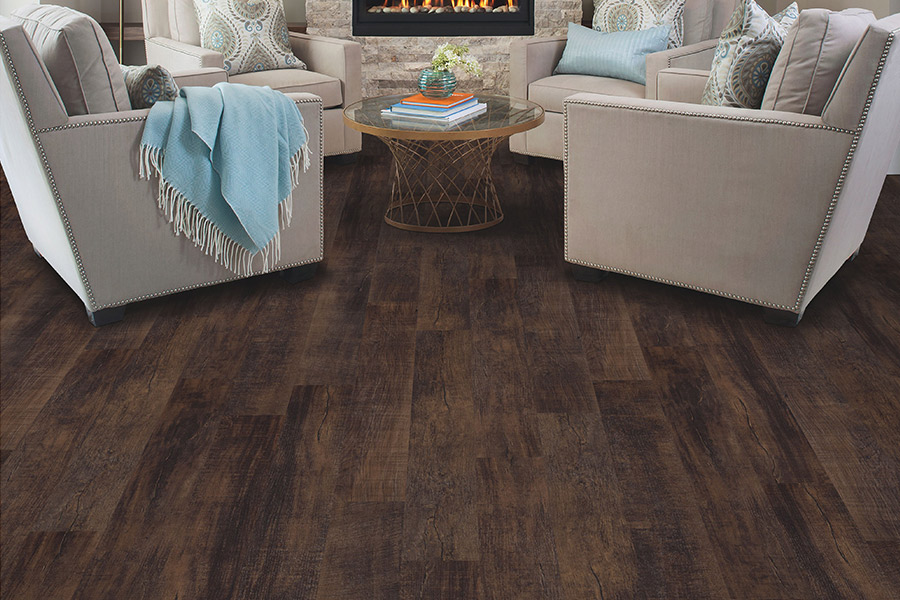 Wood look luxury vinyl plank flooring in Hyattsville, MD from Warriors Construction Group
