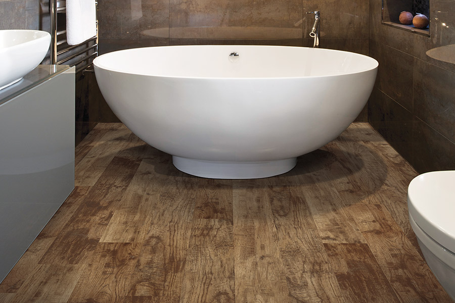 Waterproof bathroom flooring in