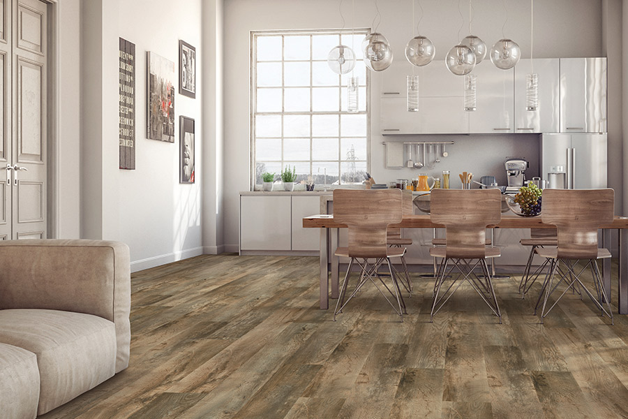 Wood look waterproof flooring in Beaumont, CA from Carpet Emporium