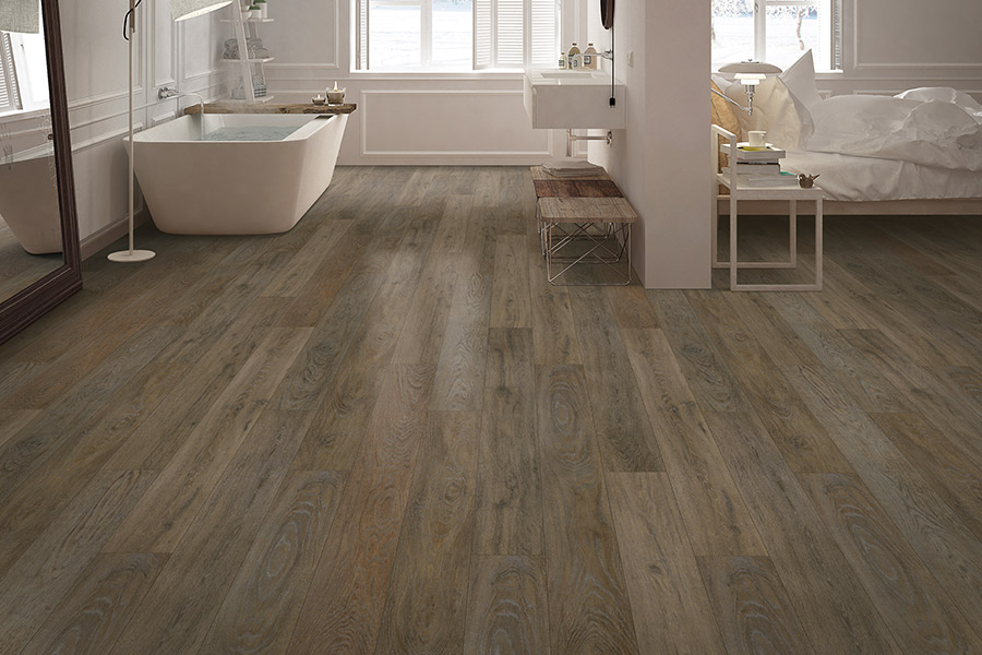 Wood look vinyl sheet flooring in Hopkinton, MA from Creative Carpet