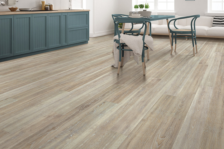 Bright kitchens with luxury vinyl plank (LVP) flooring from Select Floors