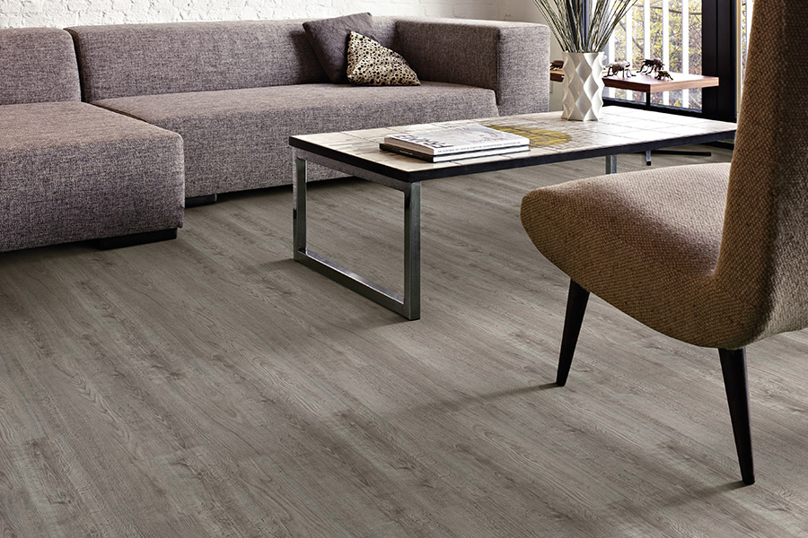 Luxury vinyl plank (LVP) flooring in