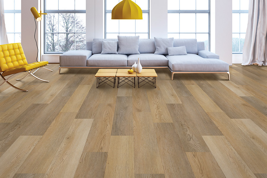 Wood look vinyl sheet flooring in Bayville, NY from Glen Floors