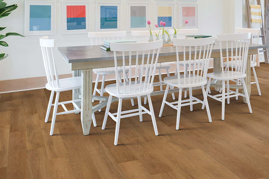 Wood look luxury vinyl plank flooring in Wethersfield, CT from Custom Floors
