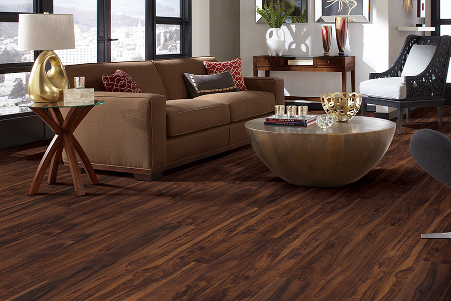 Wood look waterproof flooring in
