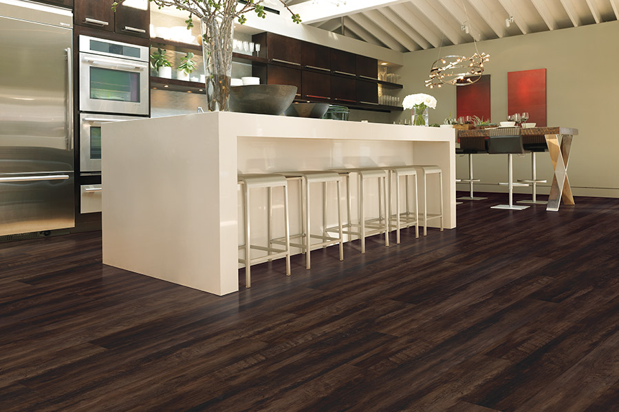 Wood look waterproof flooring in Hamilton County from B & B Carpet Service