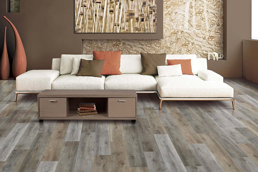 Wood look vinyl sheet flooring in Southfield, MI from Roman Floors & Remodeling