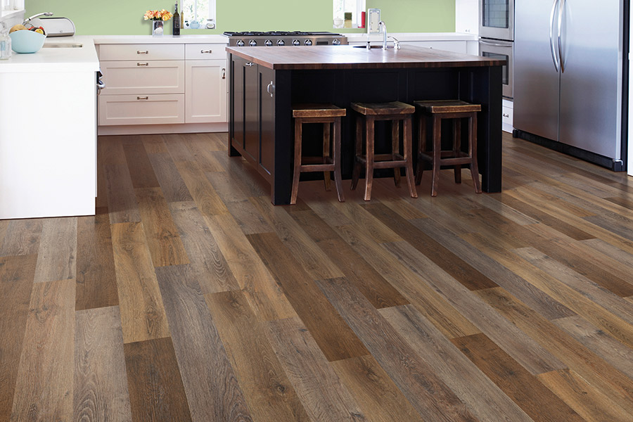Luxury vinyl flooring in