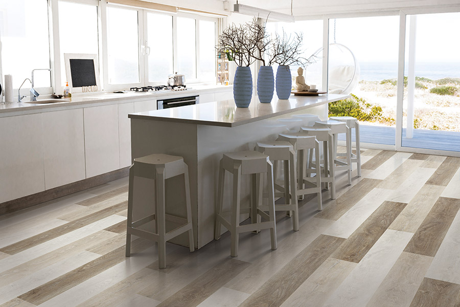 Wood look luxury vinyl plank flooring in