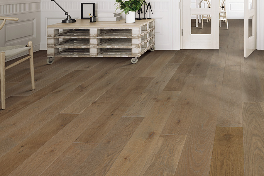 Hardwood floor installation in Huntington Beach, CA from Bixby Plaza Carpets & Flooring