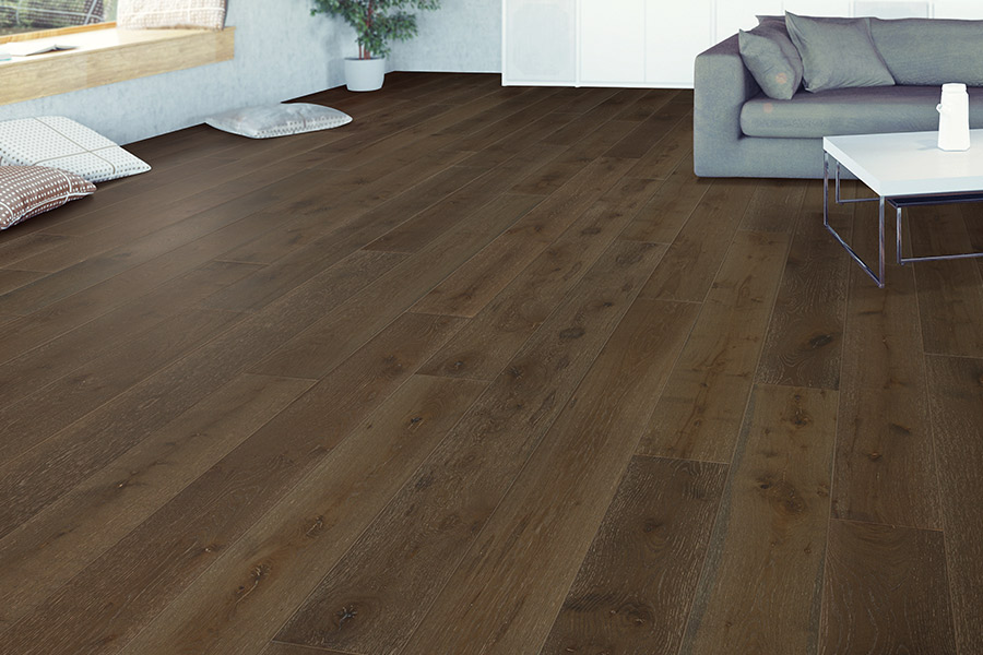Contemporary wood flooring in Jenks, OK from BA Flooring and Design