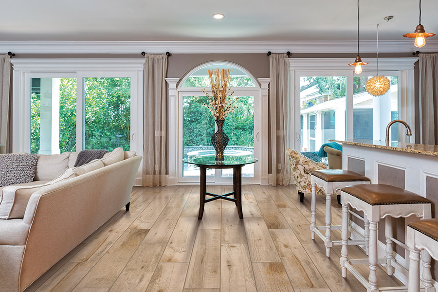 Wood look tile flooring in Chantilly, VA from Crown Floors