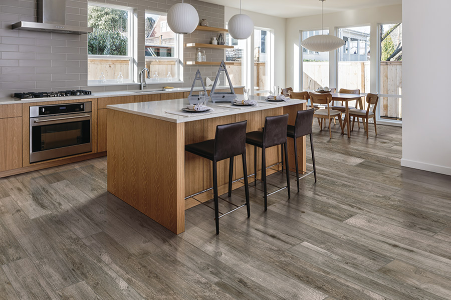 Wood look tile flooring in Riverside, CA from Wally's Carpet & Tile