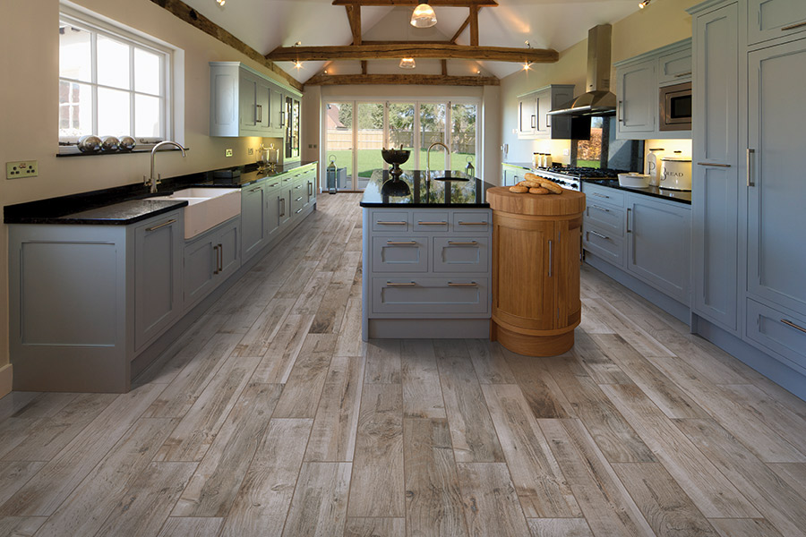 Wood look tile flooring in Hope Mills, NC from Cape Fear Flooring and Restoration