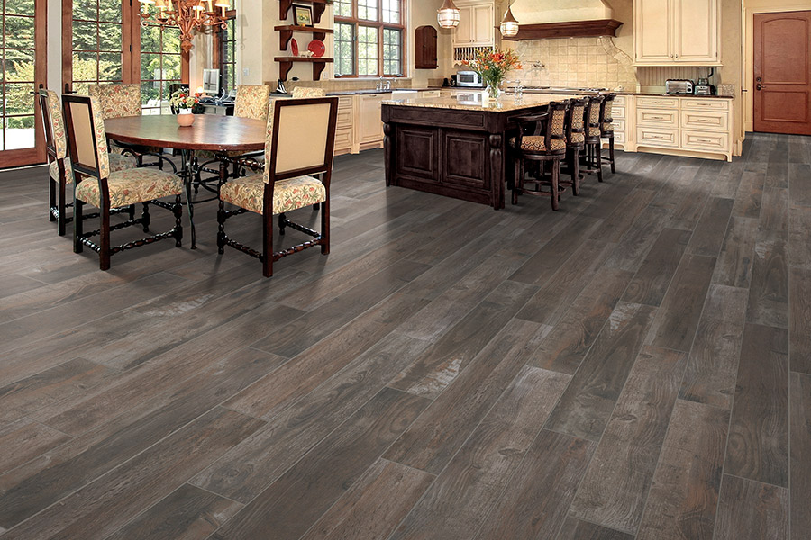 Wood look tile flooring in Corsicana, TX from H & R Carpet