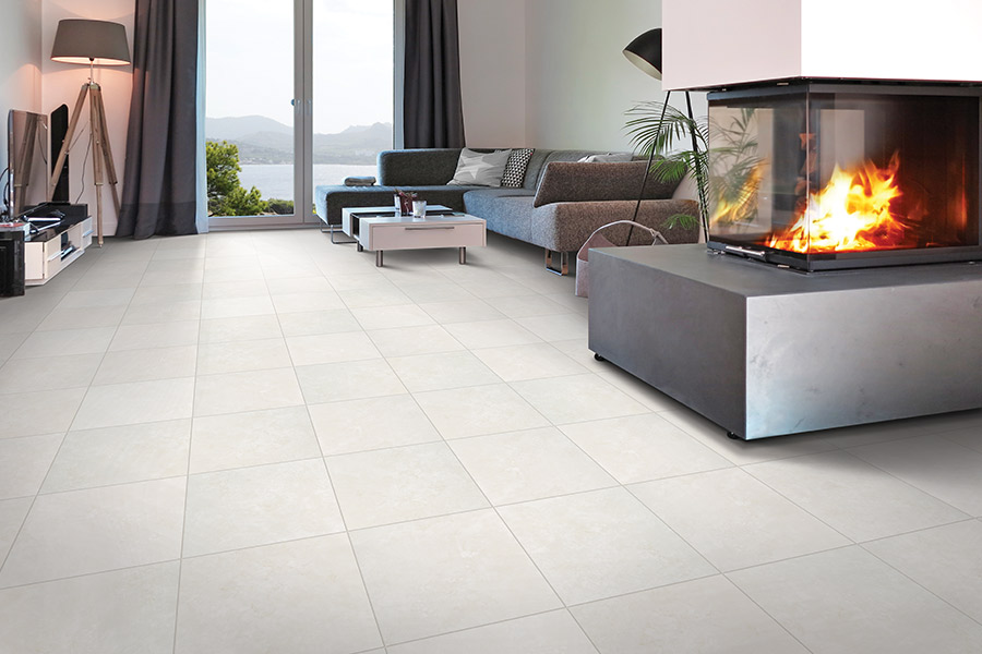 Wall to wall tile flooring in Atlanta area from Select Floors