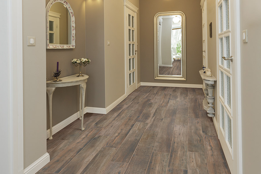 Wood look tile flooring in Bellevue, WA from Haight Carpet & Interiors