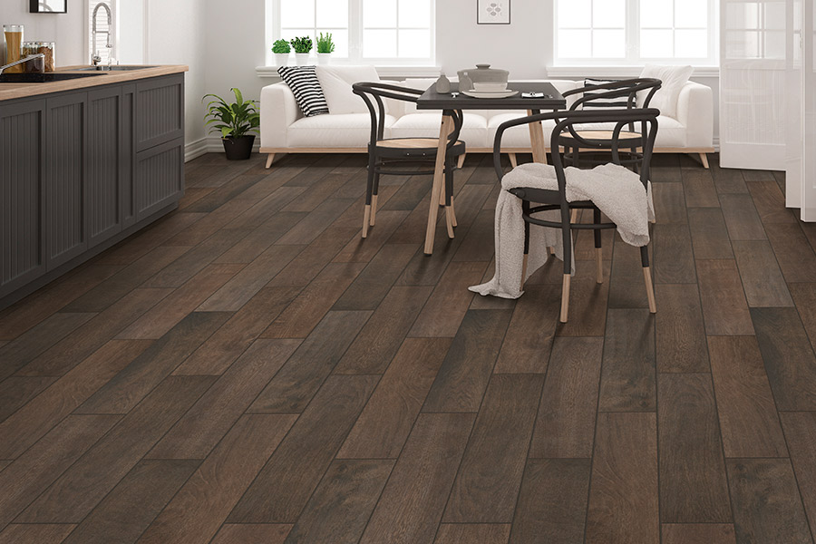 Wood look tile flooring in Mississauga, ON from Carpet Plus Flooring and Reno