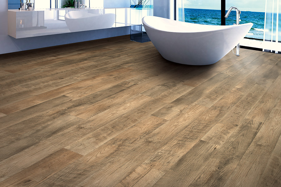 Intimate bathroom retreats with laminate flooring in the Atlanta area from Select Floors