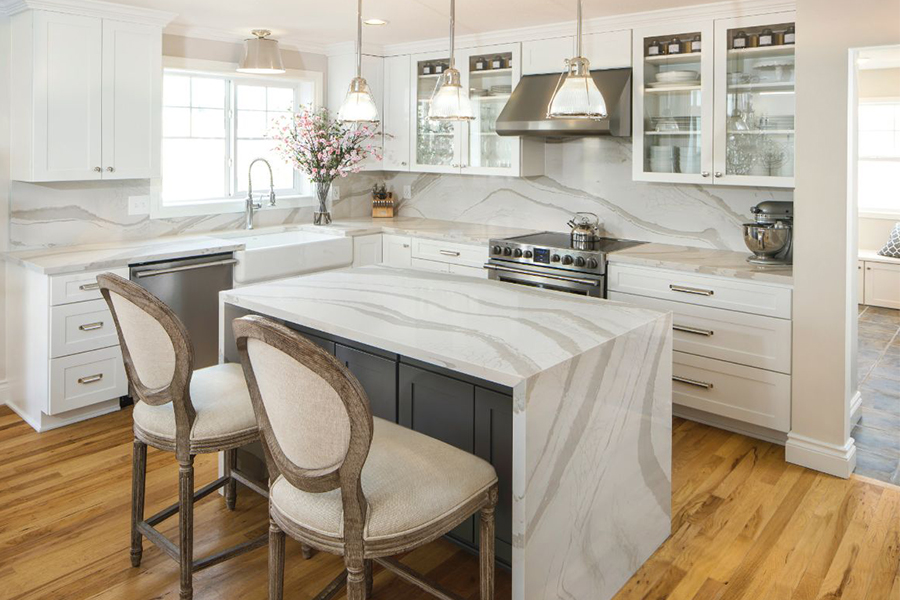 Beautiful textured countertops in St. Clair County, MI from Richmond Interiors