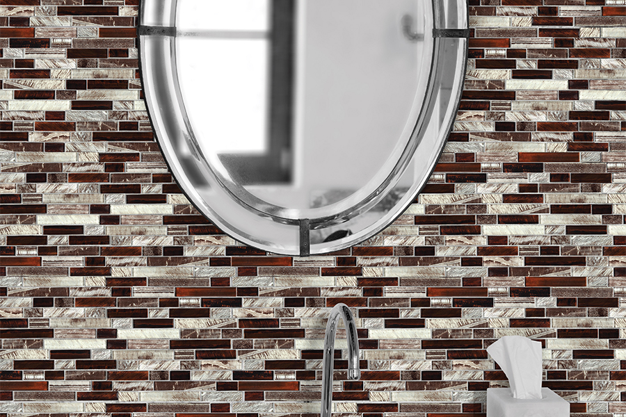 Contemporary glass tile in Norris Square, PA from Philadelphia Flooring Solutions