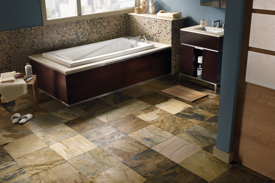 Rich natural stone flooring in Anaheim, CA from Orion Flooring Inc