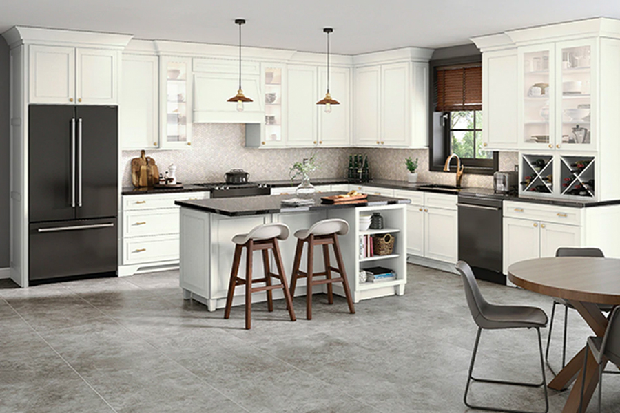 Modern kitchen cabinets in Charlotte, NC from Custom Floor Solutions