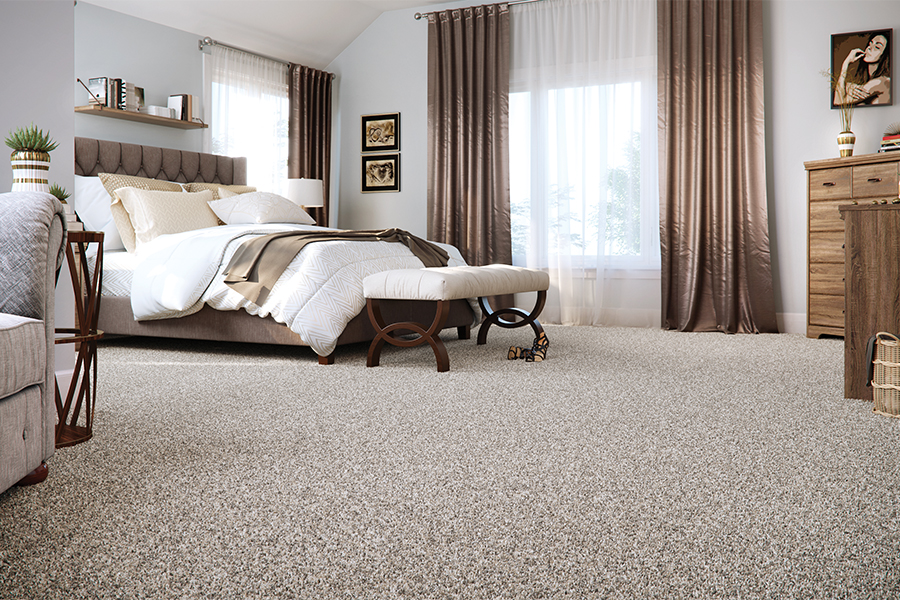 Beautiful textured carpet in Davidson, NC from LITTLE Wood Flooring & Cabinetry