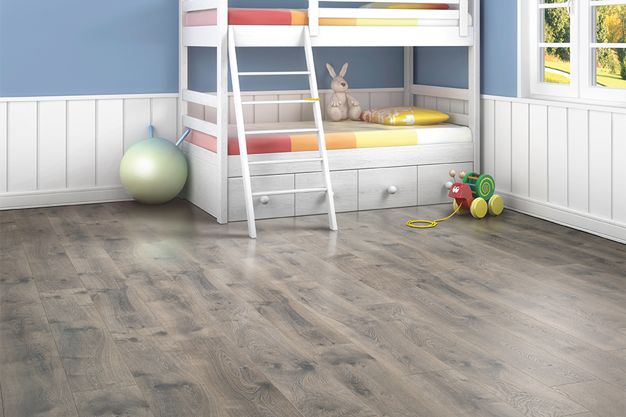 Grey laminate flooring in Riverton, UT from Cost U Less Flooring
