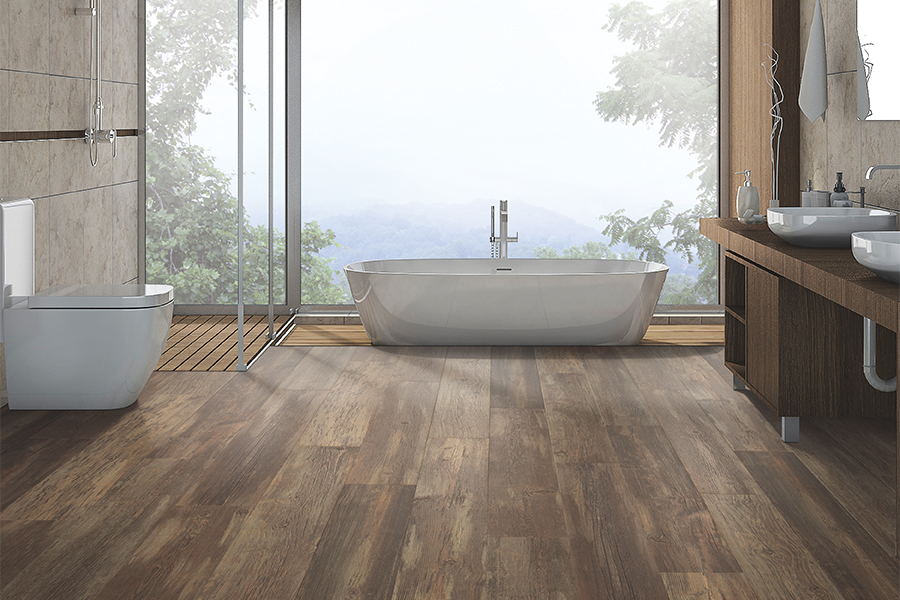 Wood look laminate flooring in Greenville, SC from FLOORS