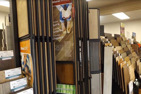 Flooring showroom servicing