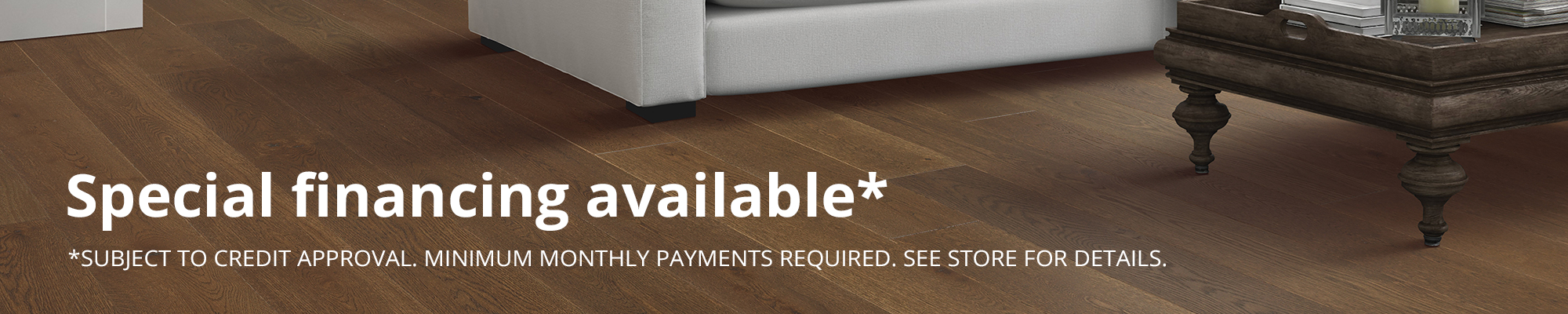Financing available from Legacy Flooring Center