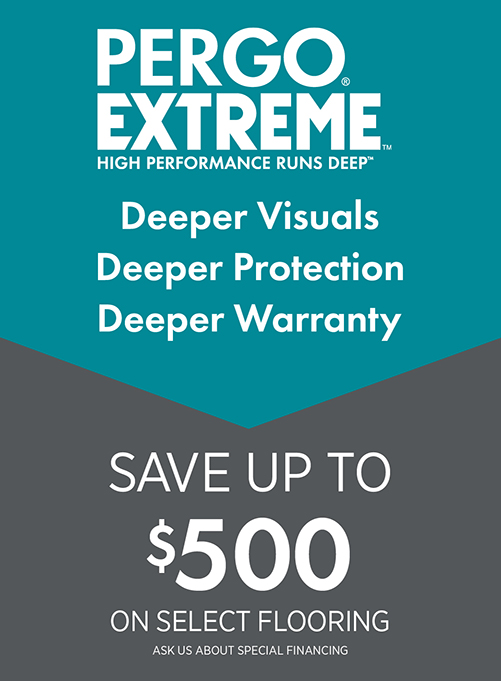 Save up to $500 on select flooring